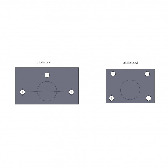 OMP PERFORATED PLATES FOR ROLLBAR FIXING