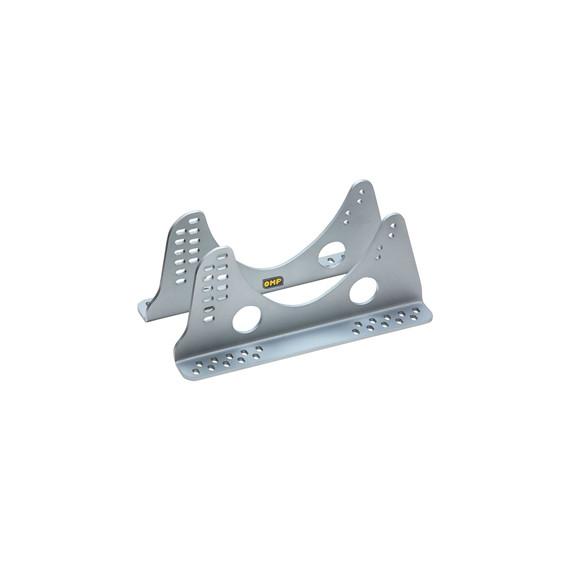 OMP SEAT BRACKETS ALUMINIUM 6 mm, LONG 422.5 mm, SILVER