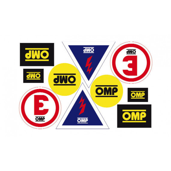 SET OMP STICKERS EXTINGUISHER